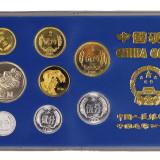 1986年中国人民银行发行中国造币公司制造中国硬币壹分、贰分、伍分、壹角、贰角、伍角、壹元、丙寅虎合金流通纪念币各一枚