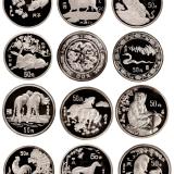 1988-1999年十二生肖五盎司纪念银币全套十二枚