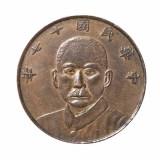 民国十七年甘肃省造孙中山像伍枚铜币一枚