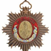 民国五年云南都督府製唐继尧像拥护共和纪念章一枚