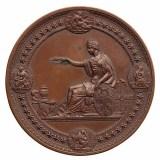 1876年美国费城世博会(美国百年独立纪念世界博览会)官方颁发正式大型奖章一枚