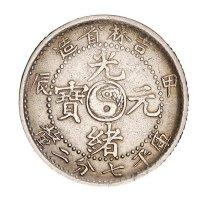 1904年甲辰吉林省造光绪元宝库平七分二厘银币一枚