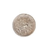 1909年西藏大狮子图壹两银币一枚