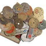 民国时期各种银行号牌、勋章等四十枚