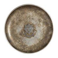 民国时期上海工部局万国商团奖励银质小盘一只