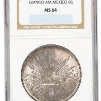 1897年墨西哥鹰洋银币一枚