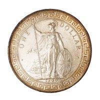 """1900年、1909年香港""""站人""""壹圆银币各一枚"""