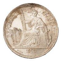 """1895年法属印度支那""""坐洋""""壹圆银币一枚"""