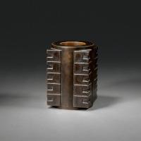 清早期 玉琮式铜炉