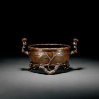 清中期 竹节式铜炉