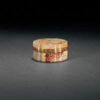 清早期 寿山石雕夔龙纹盖盒