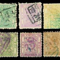 ○1885-1888年小龙毛齿、光齿邮票三枚全各一套
