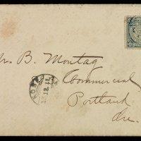 1911年烟台寄日本西式封