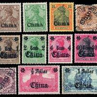 ★○1889-1917年德国、英国、意大利、日本、俄国在华邮局发行及加盖改值邮票近二百枚