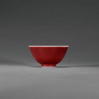 清乾隆 霁红釉碗