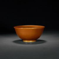 明嘉靖 酱釉碗