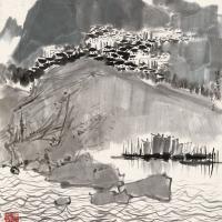 吴冠中 渔村