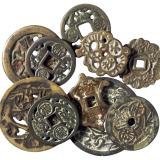 清代韩国花钱不同品种十枚