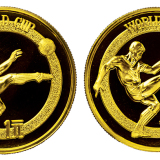 1982年世界杯纪念铜币一元二枚