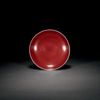 清乾隆 霁红釉盘