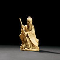 清末民初 象牙雕人物坐像