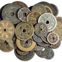 清代至民国各种材质花钱一组四十三枚