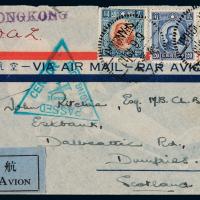1940年上海寄美国航空检察封