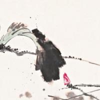 潘天寿 西湖荷塘