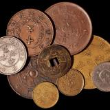 清代、民国各类铜币一组九枚