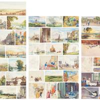 李咏森 英国水彩画史临摹画集(共五十七张、六十幅)