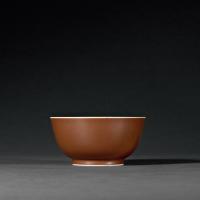 清乾隆 京酱釉碗