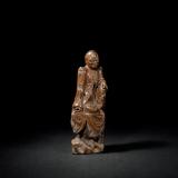明末清初 黄杨木雕罗汉坐像