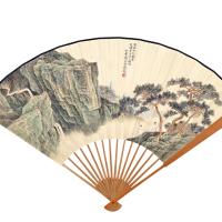 杨石朗 书画合璧扇