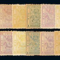 小龙邮票四种水印各一套