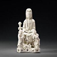明末清初 德化窑白瓷观音坐像