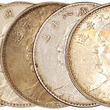 不同年袁世凯像银币5枚