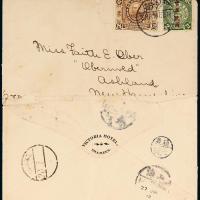 1913年沙面寄美国西式封