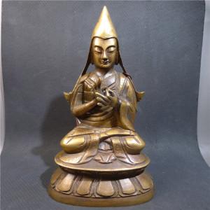清晚期铜造宗喀巴佛像交易价格
