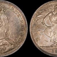英国马剑银币PCGS MS62