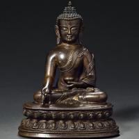 明中晚期 铜药师佛像