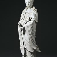 清晚期 德化窑白瓷如意观音立像