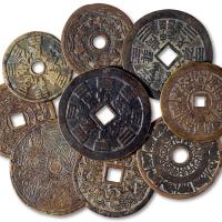 吉语图案/宗教类花钱1组9枚