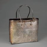 民国银质编织纹手袋
