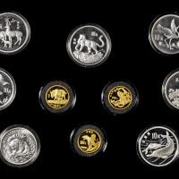 1986-1992年中国珍稀野生动物金银纪念币1套10枚
