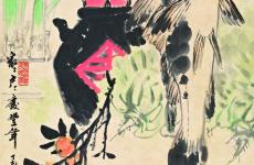 潘天寿书画作品《小憩》赏析