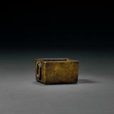 清中期 铜八方环耳马槽式琴炉