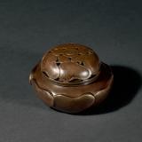 清早期 铜葵花形熏炉