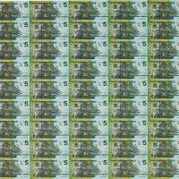 2015年澳大利亚发行中澳贸易伍圆45枚连体塑料钞