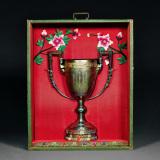 伪满吉林步兵第七旅官佐赠银质纪念杯