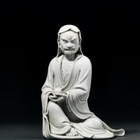 清乾隆 德化窑白瓷达摩坐像